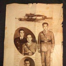Coleccionismo de carteles: DE ESPAÑA A AMÉRICA. PLUS ULTRA [1926]. AVIADORES RAMÓN FRANCO, DURÁN, RUIZ DE ALDA Y RADA.. Lote 222447727