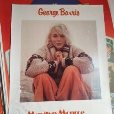 "Coleccionismo de carteles: GEORGE BARRIS ""MARILYN MONROE"" POSTER. PUBLISHED BY WESTON EDITIONS LTD.. Lote 222736565"