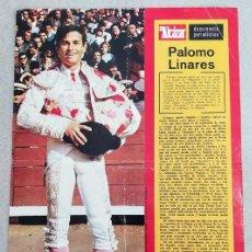 Coleccionismo de carteles: LAMINA - EL ALCAZAR - PALOMO LINARES. Lote 243915040