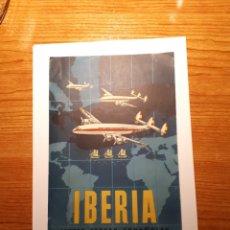 Coleccionismo de carteles: PUBLICIDAD, CARTEL DE IBERIA ( LÍNEAS AÉREAS ESPAÑOLAS ). Lote 222928416