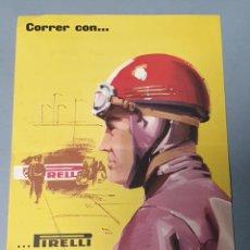 Coleccionismo de carteles: PEQUEÑO CARTEL PUBLICITARIO PIRELLI AÑOS 60 DE IX GYMKHANA INGENIEROS INDUSTRIALES. Lote 223678442