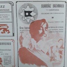 Collectionnisme d'affiches: GRAN FABRICA DE CERVEZAS SUARDIAZ BACHMAIER Y COMPAÑIA GIJON HOJA AÑO 1906. Lote 223857381