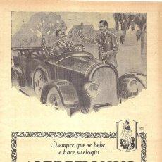Collezionismo di affissi: 1923 HOJA REVISTA PUBLICIDAD ANUNCIO DE PRENSA ANÍS DEL MONO DE VICENTE BOSCH BADALONA. Lote 224212898