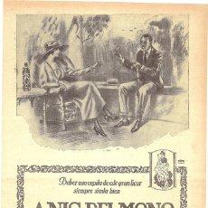 Collezionismo di affissi: 1923 HOJA REVISTA PUBLICIDAD ANUNCIO DE PRENSA ANÍS DEL MONO DE VICENTE BOSCH BADALONA. Lote 224283061