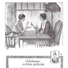 Collezionismo di affissi: 1923 HOJA REVISTA PUBLICIDAD ANUNCIO DE PRENSA LICOR ANÍS DEL MONO DE VICENTE BOSCH BADALONA. Lote 224826650