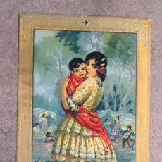 Collectionnisme d'affiches: CARTEL ALMANAQUE CHOCOLATE JUNCOSA, AÑO 1937, GUERRA CIVIL. AUTOR: BADÍA. Lote 225012263