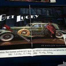Coleccionismo de carteles: POSTER DOBLE HOJA PUBLICIDAD EN PRENSA LUCKY STRIKE. Lote 225896820