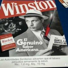 Coleccionismo de carteles: POSTER REVISTA HOJA PUBLICIDAD EN PRENSA WINSTON. Lote 225897872