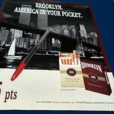 Coleccionismo de carteles: POSTER REVISTA HOJA PUBLICIDAD EN PRENSA BROOKLYN - AMERICA IN YOUR POCKET - 175 PTS. Lote 225898295