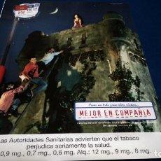 Coleccionismo de carteles: POSTER REVISTA HOJA PUBLICIDAD EN PRENSA ( L&M ) MEJOR EN COMPAÑIA. Lote 225898890