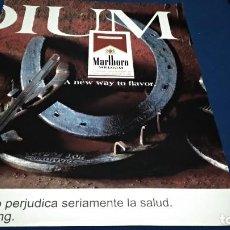 Coleccionismo de carteles: POSTER REVISTA HOJA PUBLICIDAD EN PRENSA ( MARLBORO - MEDIUM ). Lote 225899225