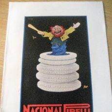 Coleccionismo de carteles: ANTIGUA PUBLICIDAD PRODUCTOS NACIONAL PIRELLI . PAPEL GRUESO DOBLE CARA . 23/17CM MANCHAS TINTA. Lote 226377310