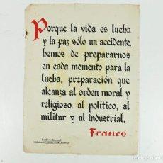 Coleccionismo de carteles: FRANQUISMO - LA FRASE QUINCENAL - AÑO 1942. TAMAÑO: 23,5X31,5 CM.. Lote 226396283