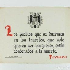 Coleccionismo de carteles: FRANQUISMO - LA FRASE QUINCENAL - AÑO 1942. TAMAÑO: 23,5X31,5 CM.. Lote 226397440