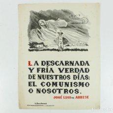 Coleccionismo de carteles: FRANQUISMO - LA FRASE QUINCENAL - AÑO 1945. TAMAÑO: 23,5X31,5 CM.. Lote 226397530