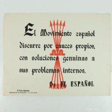 Coleccionismo de carteles: FRANQUISMO - LA FRASE QUINCENAL - AÑO 1944. TAMAÑO: 23,5X31,5 CM.. Lote 226397705