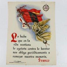 Coleccionismo de carteles: FRANQUISMO - LA FRASE QUINCENAL - AÑO 1944. TAMAÑO: 23,5X31,5 CM.. Lote 226652670