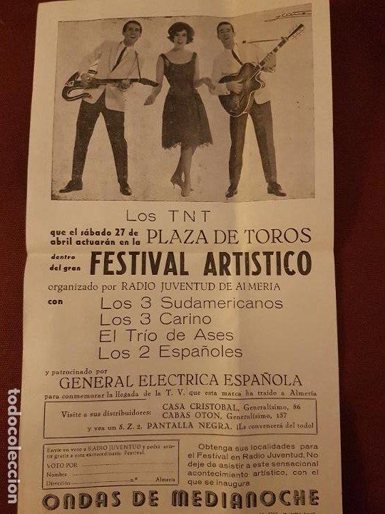 ALMERIA PLAZA DE TOROS 1963 CARTEL FESTIVAL ARTISTICO LOS TRES SUDAMERI LOS 2 ESPAÑOLES LOS 3 CARINO (Coleccionismo - Carteles Pequeño Formato)