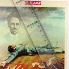 Coleccionismo de carteles: PETIT CARTELL 15 D´OCTUBRE DEL 1983 IL.LUSTRACIÓ D´EN J. TORRA I ARAN FUSELLAMENT D´EN COMPANYS. Lote 228638305