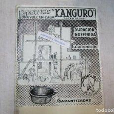 Collezionismo di affissi: RARO, ESPUERTAS KANGURO - MONTAJE IMPRENTA, A TINTA CHINA Y PLUMILLA - 28X23CM, PUBLICIDAD +INFO. Lote 230609525