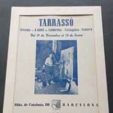 Coleccionismo de carteles: CARTEL EXPOSICIÓN LARS LAS ESTALACTITAS Y ESTALAGMITAS MALLOCA DE TARRASSÓ BARCELONA 1950. Lote 231007280