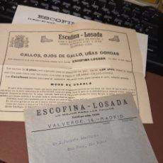 Coleccionismo de carteles: ESCOFINA. LOSADA .PUBLICIDAD. Lote 232757245