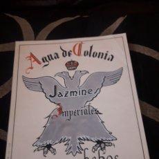 Coleccionismo de carteles: ANTIGUO CARTEL, AGUA DE COLONIA JAZMINES IMPERIALES, HEBOS MADRID, PINTADO A MANO. Lote 232954015