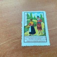 Coleccionismo de carteles: PUBLICIDA PELITRE BALLESTER INSECTICIDA. FORMATO SELLO 6 X 4 CM (COIB188). Lote 233814585