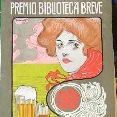 Coleccionismo de carteles: BENET, JUAN. SEIX BARRAL, CARTEL PREMIO BIBLIOTECA BREVE 1969. Lote 233908445