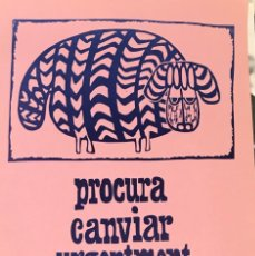 Coleccionismo de carteles: ULL DE VIDRE, CARTEL FIRMADO POR SOLE CLOSAS. Lote 233912980