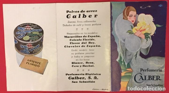 ANTIGUA PROPAGANDA ORIGINAL DE PERFUMERIA GALBER, HELIOS MADRID (Coleccionismo - Carteles Pequeño Formato)