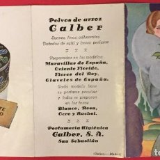 Colecionismo de cartazes: ANTIGUA PROPAGANDA ORIGINAL DE PERFUMERIA GALBER, HELIOS MADRID. Lote 235040860