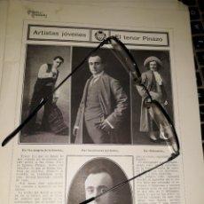 Coleccionismo de carteles: COMEDIAS Y COMEDIANTES 1910 FOTOS DRAMA REDENTOR SANTIAGO RUSIÑOL COBEÑAS BORRÁS SIERRATENOR PINAZO. Lote 235363310