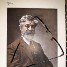 Coleccionismo de carteles: COMEDIAS Y COMEDIANTES 1910 FOTOS REDENTOR SANTIAGO RUSIÑOL FUENTE AMARGA LINARES RIVAS ESCENARIO AC. Lote 235364255