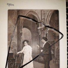 Coleccionismo de carteles: COMEDIAS Y COMEDIANTES 1910 FOTOS REDENTOR SANTIAGO RUSIÑOL PRIMERO COBEÑA CALVO ESCENARIO ACTO SEGU. Lote 235410665