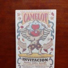 Collectionnisme d'affiches: FLYER ENTRADA DE DISCOTECA CAMELOT. Lote 237382455