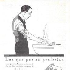 Coleccionismo de carteles: 1923 HOJA REVISTA PUBLICIDAD ANUNCIO DE PRENSA PERFUMERÍA GAL JABÓN HENO DE PRAVIA. Lote 237675105