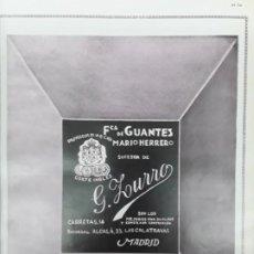 Colecionismo de cartazes: FABRICA GUANTES MARIO HERRERO MADRID / FABRICA GUANTES VIUDA DE A.LUQUE MADRID HOJA AÑO 1930. Lote 238112765
