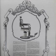 Colecionismo de cartazes: CASA D.BEA PRIMER SILLON DE MARMOL MUNDO BARBERIA MARCA LUCYN 2 HOJAS AÑO 1930 MEDIDAS 29 X 30 CM. Lote 238124225