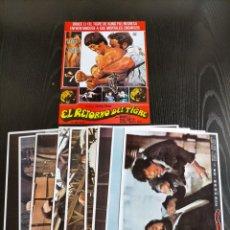 Collezionismo di affissi: BRUCE LI EL MEJOR Y MAS CONOCIDO IMITADOR DE BRUCE LEE , ESCENAS PELICULA EL RETORNO DEL TIGRE , 9 F. Lote 239456365