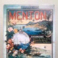 Coleccionismo de carteles: 1 TARJETA PUBLICITARIA MENTON (FRANCIA) AÑOS 70. Lote 240055950