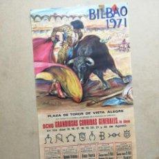Coleccionismo de carteles: CARTEL DE CORRIDAS GENERALES DE BILBAO. Lote 240928395
