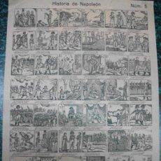 Colecionismo de cartazes: ALELUYA AUCA - HISTORIA DE NAPOLEON - N º 5. Lote 242149095