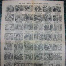 Colecionismo de cartazes: ALELUYA AUCA - VIDA, PASIÓN Y MUERTE DE NUESTRO SEÑOR JESUCRISTO - Nº 10 EL ABANICO. Lote 242149845