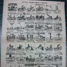 Colecionismo de cartazes: ALELUYA AUCA - CIRCO REAL COMPAÑIA ESCUESTRE Y GIMNASTICA CABALLO HIPICA - Nº 37 LLORENS. Lote 242150800