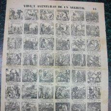 Colecionismo de cartazes: ALELUYA AUCA - VIDA Y AVENTURAS DE UN NEGRITO - BALLENA - Nº 16 BOSCH. Lote 242153000