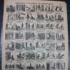 Colecionismo de cartazes: ALELUYA AUCA - HISTORIA Y LOTERIA DE BALDRAGAS - Nº 74 BOSCH. Lote 242155910