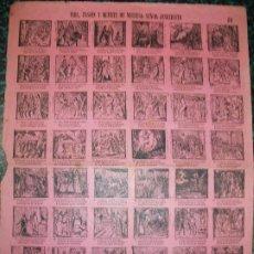 Colecionismo de cartazes: ALELUYA AUCA - VIDA, PASION Y MUERTE DE NUESTRO SEÑOR JESUCRISTO - Nº 89 BOSCH. Lote 242156940