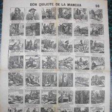Colecionismo de cartazes: ALELUYA AUCA - DON QUIJOTE DE LA MANCHA CERVANTES - Nº 98 BOSCH. Lote 242157995