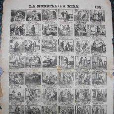 Colecionismo de cartazes: ALELUYA AUCA - LA NODRIZA LA DIDA AMA DE CRIA - Nº 105 BOSCH. Lote 242162395
